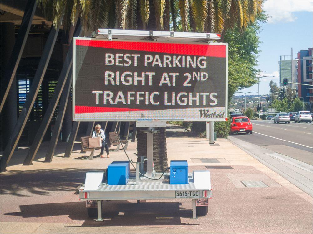 solar powered signage