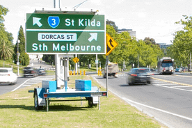 Guidelines For Location & Placement For Variable Message Signs