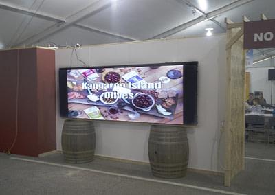Modular Screens on Wine Barrels