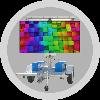 2.6 x 1.3m digital screen